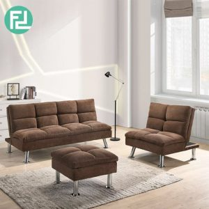 SHELBY recline fabric sofa set-Dark Brown