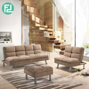 SHELBY recline fabric sofa set-Light Brown