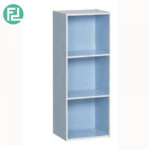 TORONTO 3 cube color box bookcase-Blue
