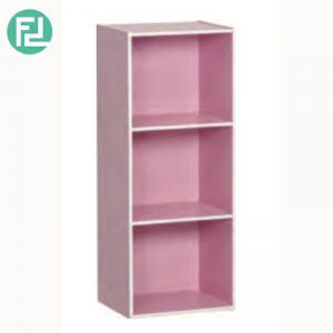 TORONTO 3 cube color box bookcase-Pink