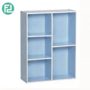 TORONTO 5 cube color box bookcase-Blue