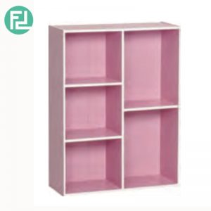 TORONTO 5 cube color box bookcase-Pink