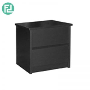 DAWLEY 2 Drawer bedside table-Black