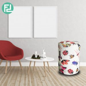 BUTTERFLY washable cover fabric stool
