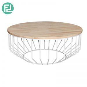 HIMOND solid wood top round coffee table- 4 option
