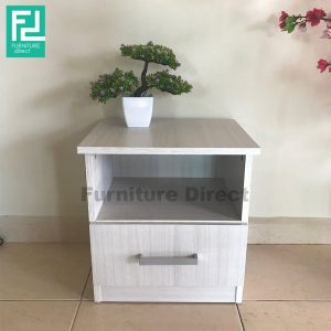 61400 Bedside Table- Grey Oak