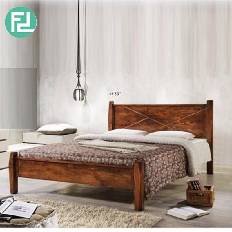 Alexander N55515 Solid Wood Queen Size Bed Frame Brown