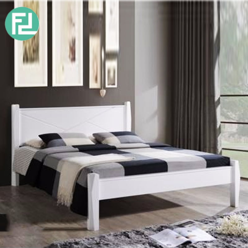 Alexander N55515 Solid Wood Queen Size Bed Frame White
