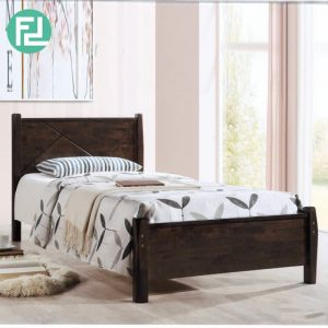 ALEXANDER SB139 wooden single bed frame-brown