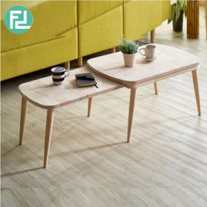 TANISHA expandable solid wood coffee table