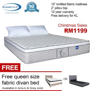 "Christmas Deal- Dreamland 10"" ZEN Series bonnell spring queen size mattress"