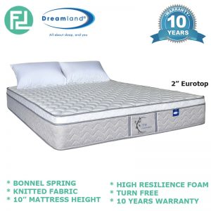 "Dreamland 10"" ZEN Series bonnell spring queen size mattress"