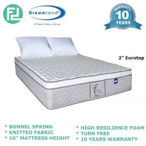 "Dreamland 10"" ZEN Series bonnell spring single size mattress"