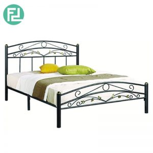 EMERALD queen size metal bed- black
