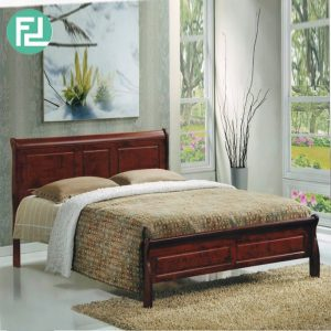 FLORIDA solid wood queen size bed frame-Black Cherry
