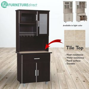 FRED 2.5 feet kitchen cabinet with Mosaic top- 2 colors