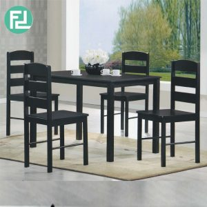 GL678 4 seater solid dining set- Cappuccino