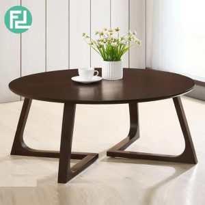 WOOYA LH30030 solid wood 90cm round coffee table- wenge