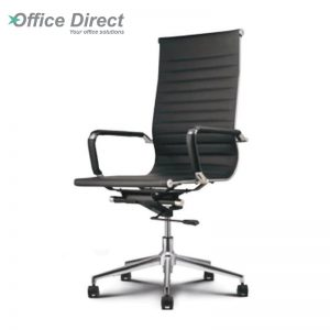 M.CASTRO MCR-1B high back office chair-black colour