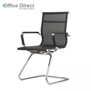 M.CASTRO MCR-3A visitor office chair with arm-black colour