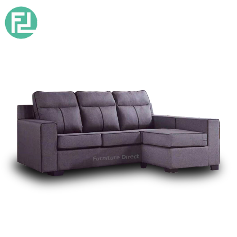 Monterey L Shaped 3 Seater Waterproof Fabric Sofa Grey