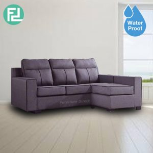 MONTEREY L shaped 3 seater waterproof fabric sofa- Grey