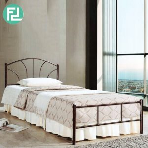 SVELVIK SB135 metal single bed frame-broze