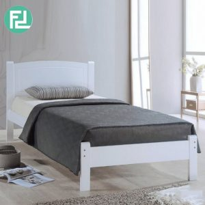 THOMAS SB138 wooden single bed frame-white