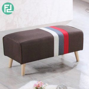ST515 ESTHER 3 feet stripe fabric bench