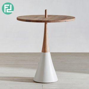 VERTICAN solid wood designer side table