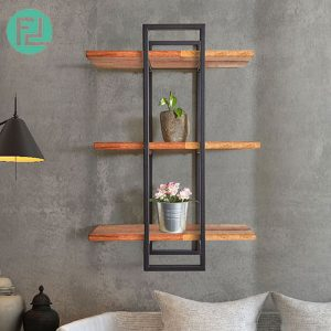 ZEN 8141 muji inspired solid wood wall shelf