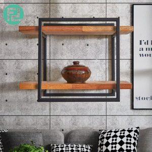 ZEN 8142 muji inspired solid wood wall shelf