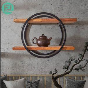 ZEN 8145 MUJI inspired solid wood wall shelf