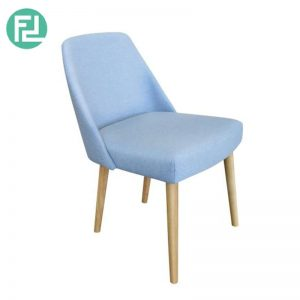 CAGGIS dining chair with oak stained legs - custom colour