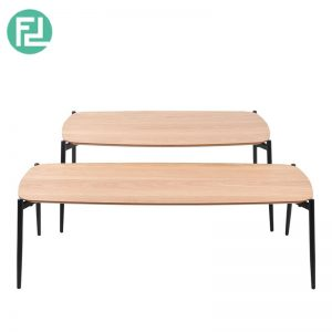 Typics-1A coffee table with metal legs-oak veneer