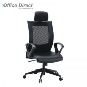 DERBY DR-1C high back office chair-black colour