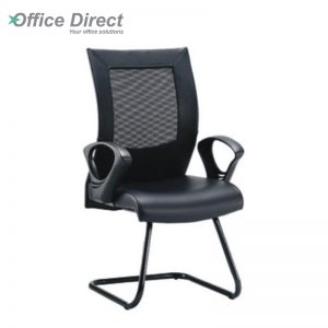 DERBY DR-3C visitor office chair with arm-black colour