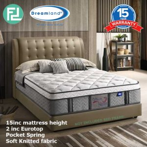"DREAMLAND 15"" VENUS 6' king size pocket spring mattress"