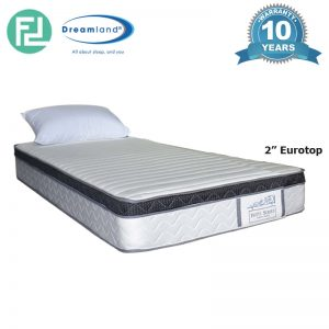 "DREAMLAND 10"" hotel series Eurotop bonnel spring mattress-Single Size"