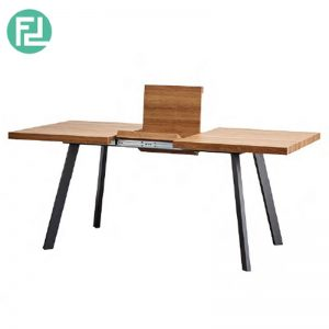 DUOMO solid wood top extension dining table