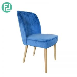 ETHICS dining chair with cocoa stained legs - custom colour