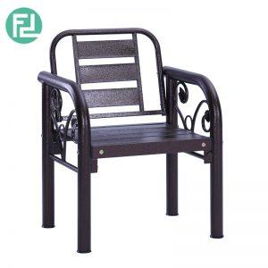 HAMILTON 1 seater metal bench-antique bronze