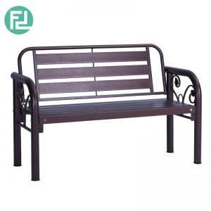 HAMILTON 2 seater metal bench-antique bronze