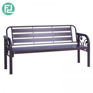 HAMILTON 3 seater metal bench-antique bronze