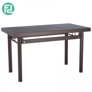 HAMILTON metal dining table-antique bronze