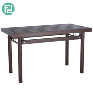 HAMILTON metal dining table-antique bronze