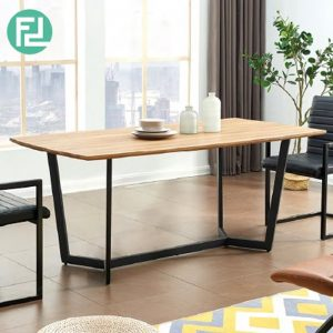 LUKAS solid wood top dining table
