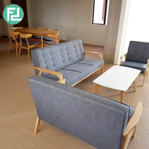 somerset solid wood sofa set grey. Black Bedroom Furniture Sets. Home Design Ideas