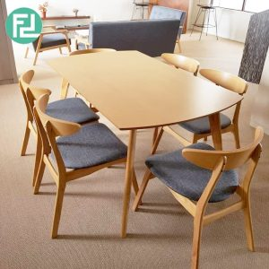 Home Package- MUJI inspired sofa set with dining set-Natural