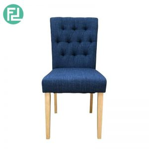 MELVIS dining chair with oak stained legs - custom colour